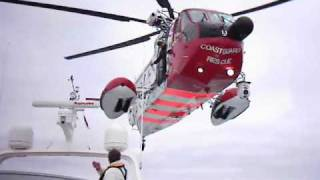 Rescue Helicopter in action, Sikorsky S-61N Mk II Her Majesty