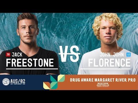 Jack Freestone vs. John John Florence - Semifinals, Heat 1 - Drug Aware Margaret River Pro 2017