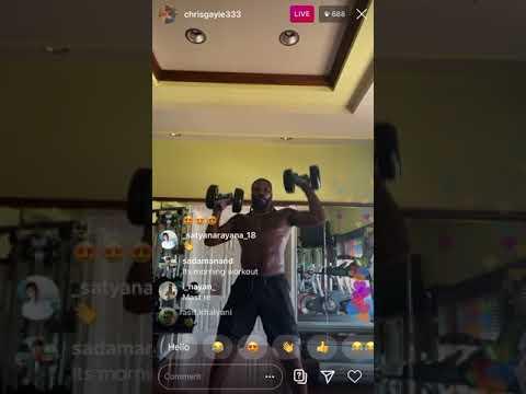 Chris Gayle Hard Gym Workout Video | Chris Gayle Live Workout Video On Instagram | Chris Gayle Live
