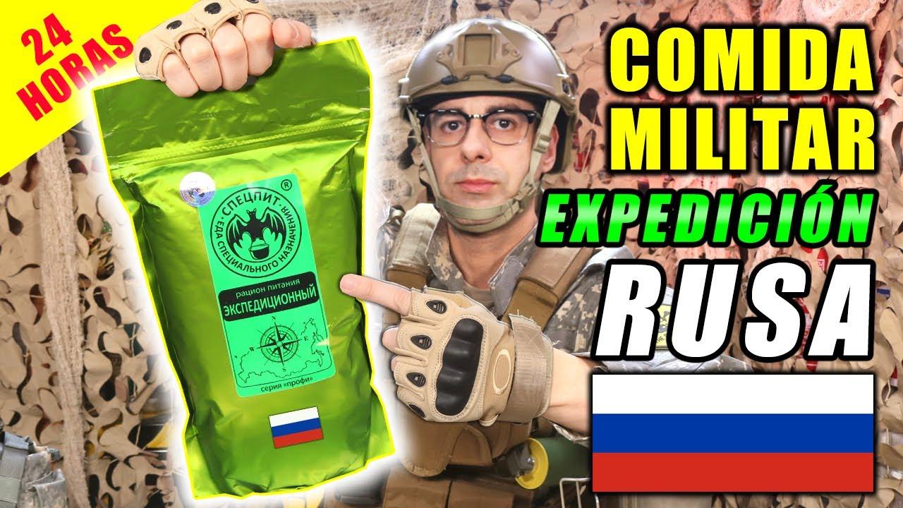 Probando COMIDA MILITAR de EXPEDICIÓN RUSA 24 HORAS | MRE RUSIA | Curiosidades con Mike - T4 E36