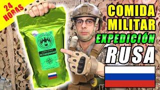 Probando COMIDA MILITAR de EXPEDICIÓN RUSA 24 HORAS   MRE RUSIA   Curiosidades con Mike - T4 E36