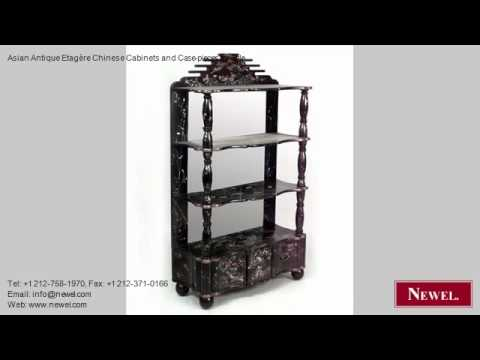 Asian Antique Etagère Chinese Cabinets and Case-pieces