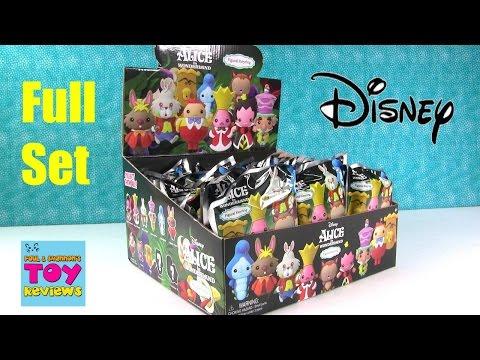 Alice In Wonderland Disney Figural Keyrings Vinyl Figure Opening Toy Review | PSToyReviews