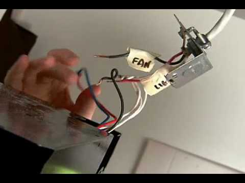 How to Replace a Bathroom Exhaust Fan - YouTube Ceiling Fan Melted Wire Harness on ice maker wire harness, refrigerator wire harness, washing machine wire harness, ceiling fan wire kit, hot tub wire harness, ceiling fan wire colors, cd player wire harness, air conditioner wire harness, ceiling fan wire gauge,