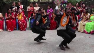 पन्चे बाजामा केटाहरु बबाल डान्स गरे ll bosy dansing in panchebaja ll abiral films