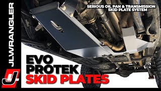 Jeep JL Wrangler Skid Plates EVO ProTek Engine Oil Pan and Transmission Protection HOW TO INSTALL