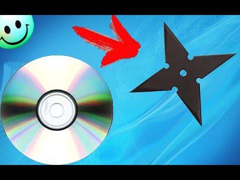 Крутая идея для самоделки из ОБЫЧНОГО CD DVD ДИСКА. КАК СДЕЛАТЬ СЮРИКЕН ИЗ ДИСКА