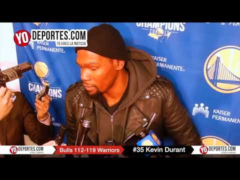 Kevin Durant Chicago Bulls 112-119 Golden State Warriors