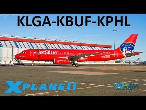 X-Plane 11 | A320 Ultimate!! | A320 | VATSIM | New York City, Buffalo & Philadelphia!!