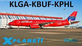 X-Plane 11 | A320 Ultimate!! | A320 | VATSIM | New York City, Buffalo & Philadelphia!!
