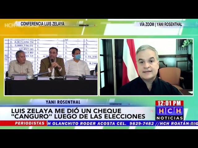 Yani Rosenthal exige a Luis Zelaya aclarar manejo de cuentas mientras estuvo al frente del CCEPL