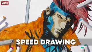 Drawing Gambit | Marvel Comic