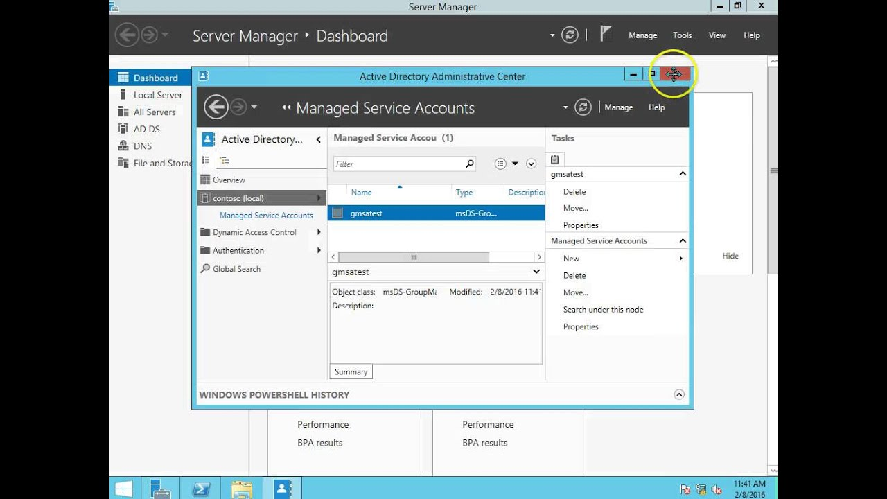 windows server group managed service accounts
