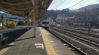 185系特急踊り子12号 東京行 伊東駅 入線
