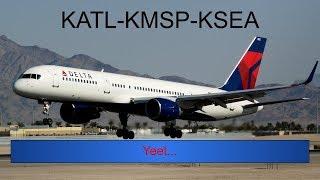 X-Plane 11   KATL-KMSP-KSEA; VMAX 757-200  
