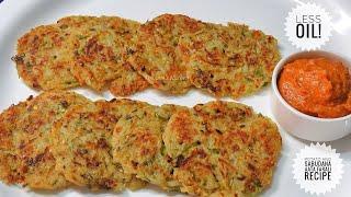 Less Oil Healthy Farali Upvas Recipe - Potato and Sabudana Pancake Recipe/ Sabudana Roti Recipe