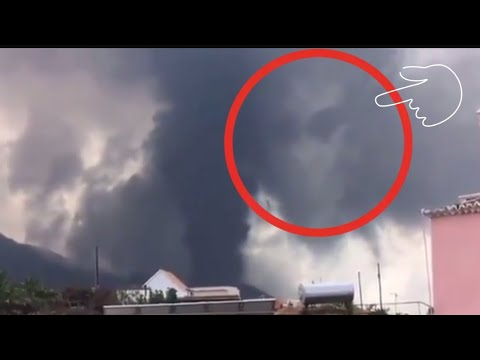 Explosive eruptions and shockwave!! A Face emerged! The phenomenon is known to science as Pareidolia