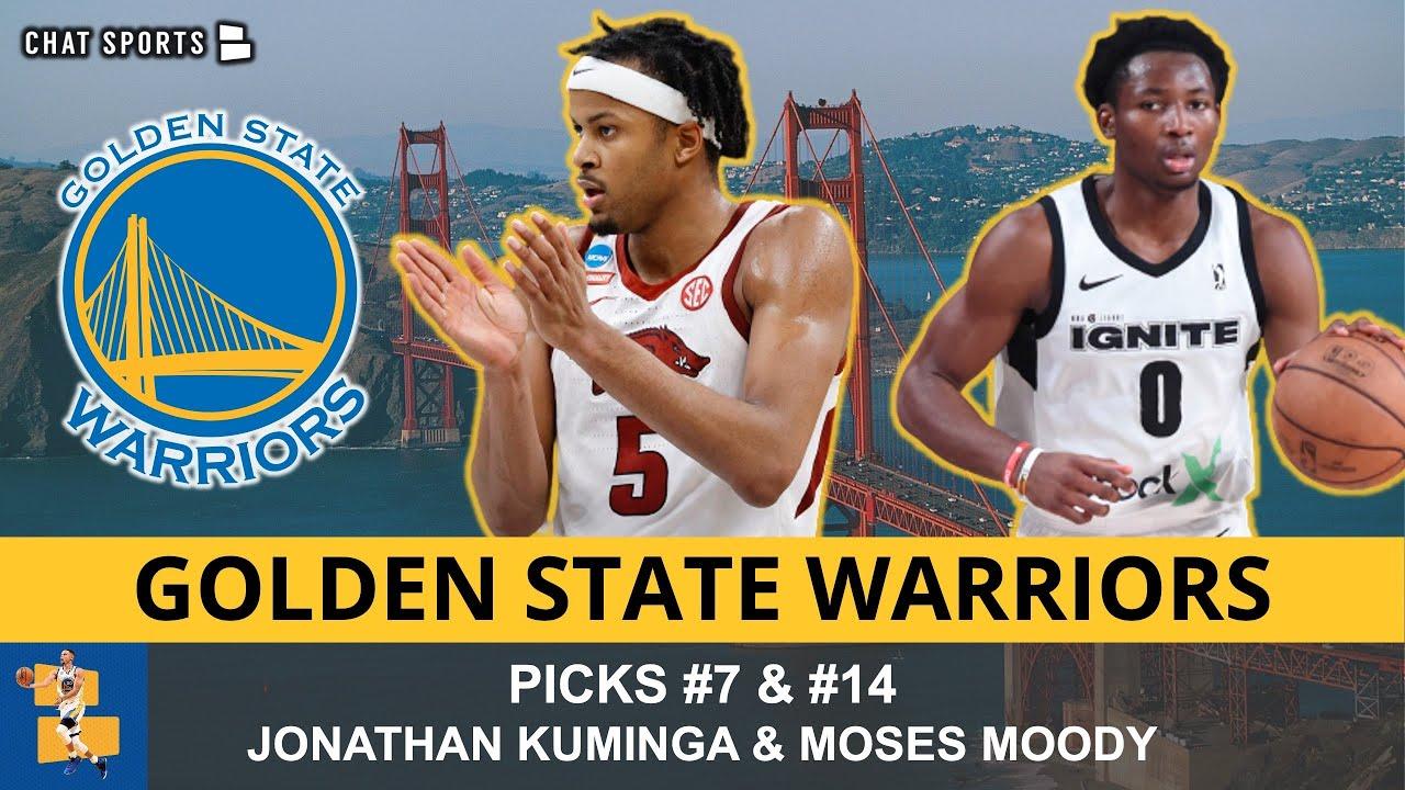 Warriors Select Jonathan Kuminga (#7) & Moses Moody (#14) In ...