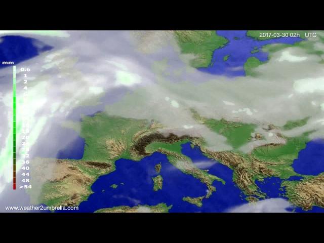 <h2><a href='http://webtv.eklogika.gr/' target='_blank' title='Precipitation forecast Europe 2017-03-26'>Precipitation forecast Europe 2017-03-26</a></h2>