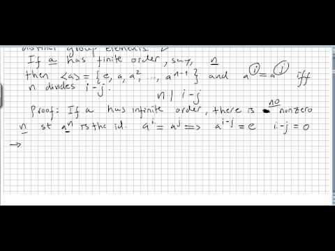 Group Theory 14, Cyclic Groups