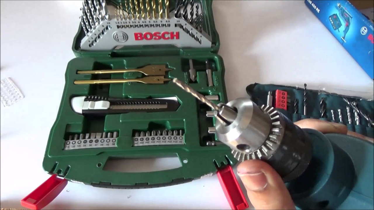 How To Use A Drill Machine With Bosch Gsb Re 450 Watt Kit Youtube