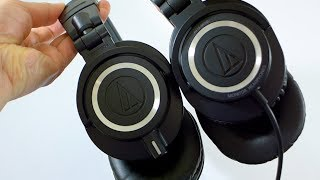NEW! Audio Technica ATH-M50x comparison with Original M50