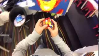 Rubik cubes performer realizing Gérard Depardieu in Belgium Thumbnail