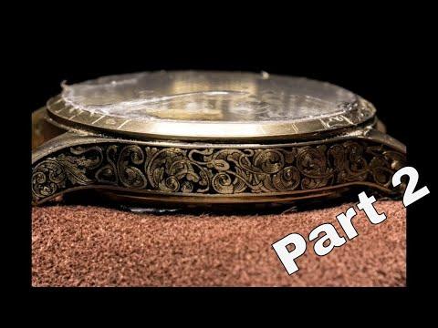 Hand Engraving Steinhart watch Part 2