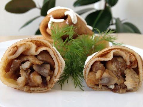 Шампиньоны (грибы) фаршированные мясным фаршем и овощами