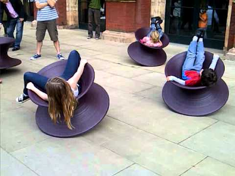 Spinning-top chairs - YouTube