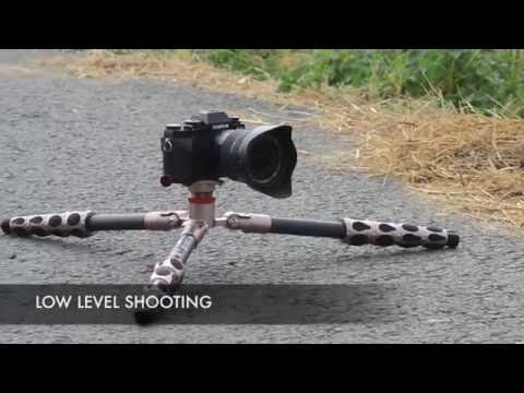 3 Legged Thing Carbon Fibre Equinox Leo Micro-Traveller Tripod & AirHed Light