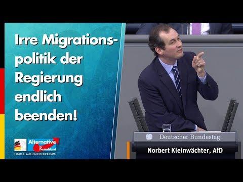 Irre Migrationspolitik der Regierung endlich beenden! - Norbert Kleinwächter - AfD-Fraktion