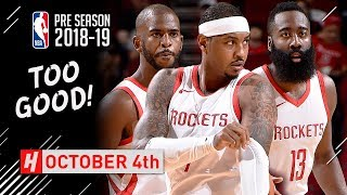 Chris Paul, James Harden & Carmelo Anthony Full Highlights vs Pacers 2018.10.04 - TOO GOOD!