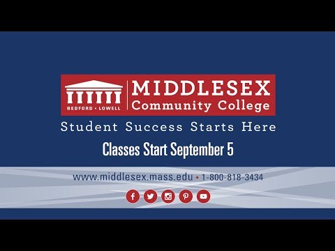 Middlesex Community College: Classes Start Sept 5