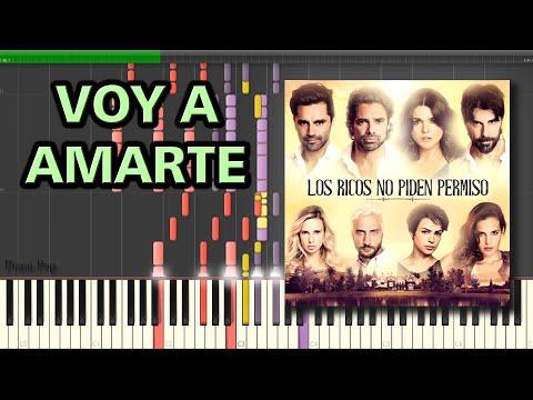 Voy a Amarte [Los Ricos no piden permiso] - Carlos Rivera   Piano Tutorial
