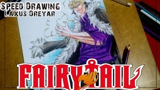 Speed Drawing Laxus Dreyar - (Fairy Tail/Challenger família DYP) - Ingrid Oliveira