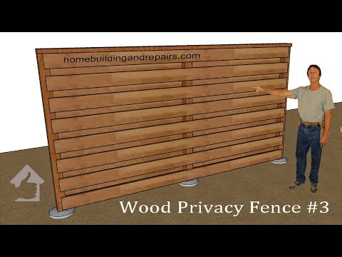 How To Build Horizontal Privacy Wood Fencing With Wind Gaps