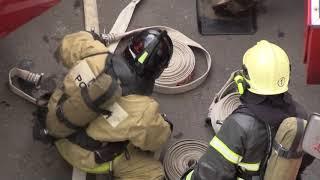 Учение по тушению пожара в высотном здании провели подразделения Хабаровска