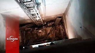 Asansör kazası sonrası çekilen olay yeri görüntüleri