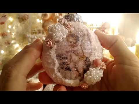 3 Shabby Ornaments