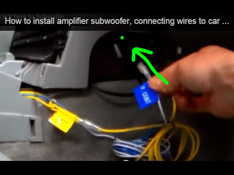 How to install amplifier subwoofer, connecting wires to car stereo Kenwood Excelon Flip Out Wiring Harness on