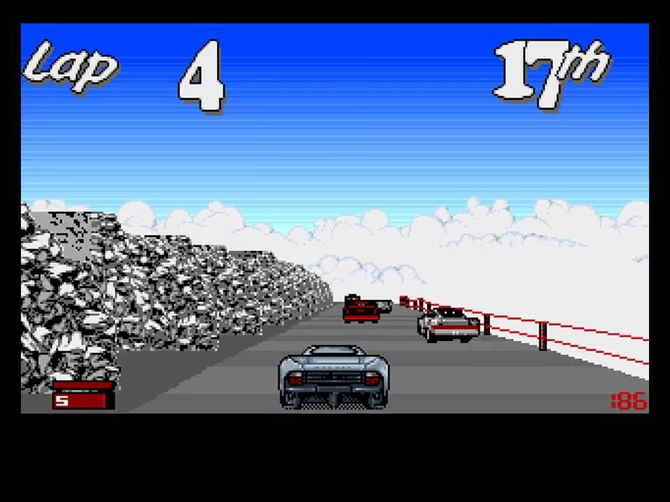 Jaguar XJ220 Amiga version - YouTube