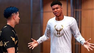 Giannis challenged me to a 1v1 battle in my crib! - NBA 2K19 MyCAREER #26