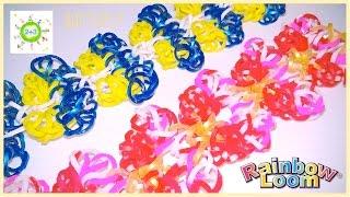 """Браслет """"Бабочки"""" на карандашах  Butterfly Rainbow loom bands for kids DIY"""
