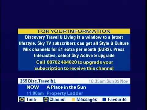 Flicking through Sky TV (Nov 2008)