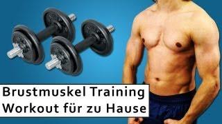 Brustmuskeltraining - Kurzhantel Training - 5 Übungen für das Training zu Hause