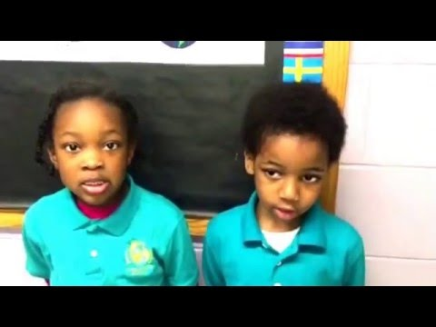 Kindergarten & 1st grade students demonstrate Mandarin language learning at Global Purpose Academy