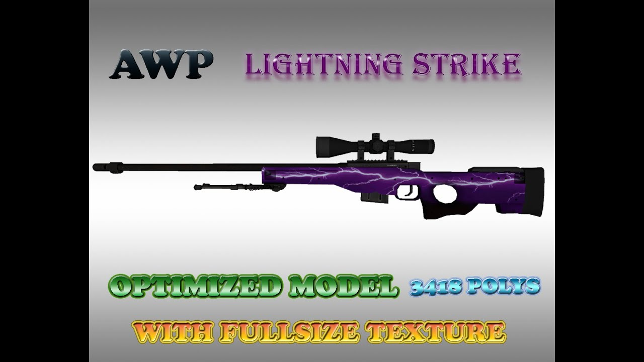 CSGO AWP Lightning Strike HD Skin For CS 16
