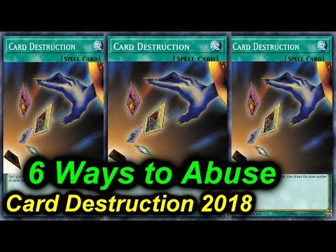 【YGOPRO】CARD DESTRUCTION - 6 DECKS THAT CAN ABUSE IT 2018