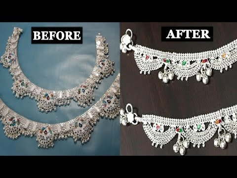 How to Clean and Polish Silver Anklet at Home | DIY Anklet Cleaning
